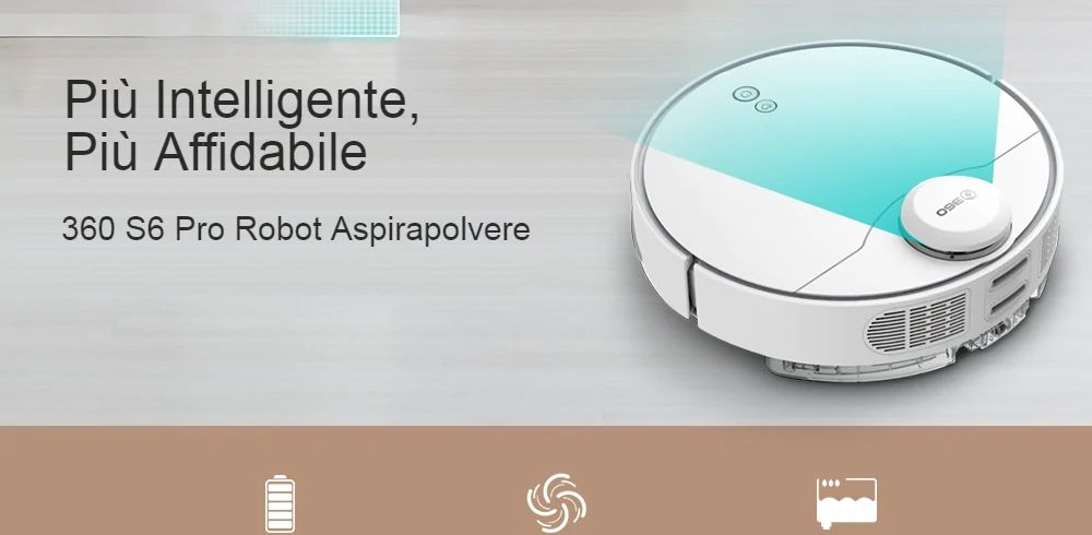 Offerta 360 S6 Pro + Regalo a 522€, Aspirapolvere Robot 2020