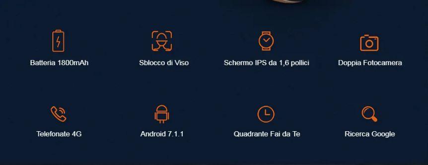 Offerta-OUKITEL-Z32-5 Offerta OUKITEL Z32 a 123€, nuovo Smartwatch 2020 con 2 Fotocamere