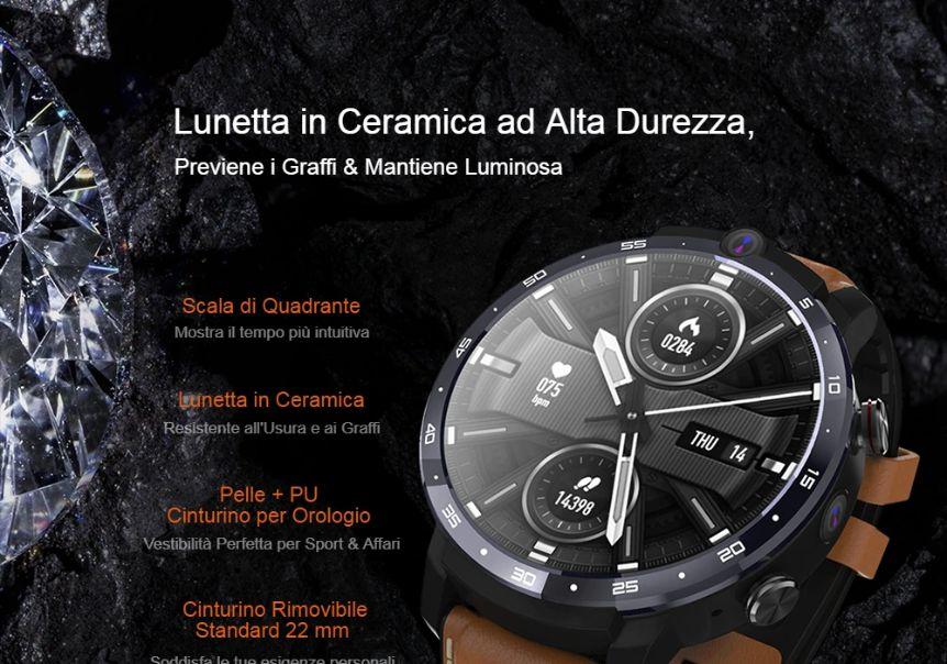 Offerta-OUKITEL-Z32-7 Offerta OUKITEL Z32 a 123€, nuovo Smartwatch 2020 con 2 Fotocamere