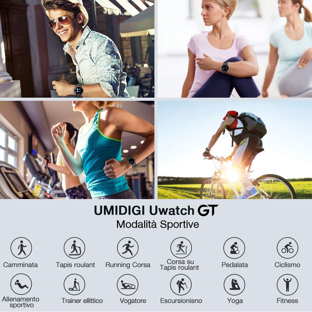 Offerta-UMIDIGI-Uwatch-GT-2 Offerta UMIDIGI Uwatch GT a 39€, Miglior Smartwatch per Fitness