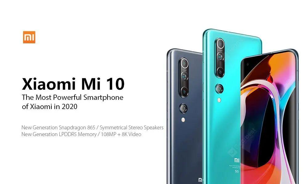 Offerta Xiaomi Mi 10 a 782€, Smartphone 5G da 108 MP