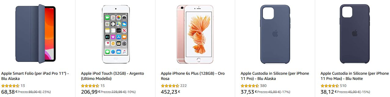Offerta Smartphone, iPad e accessori Apple, Marzo 2020