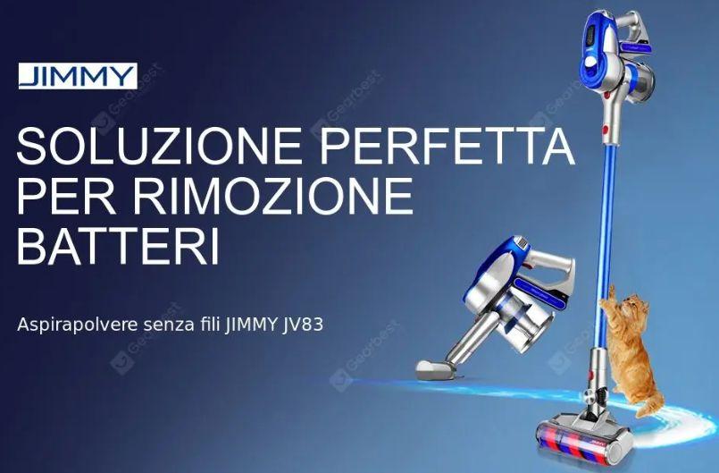 Jimmy JV83, l'aspirapolvere senza fili Clone Dyson: Dettagli e Offerte