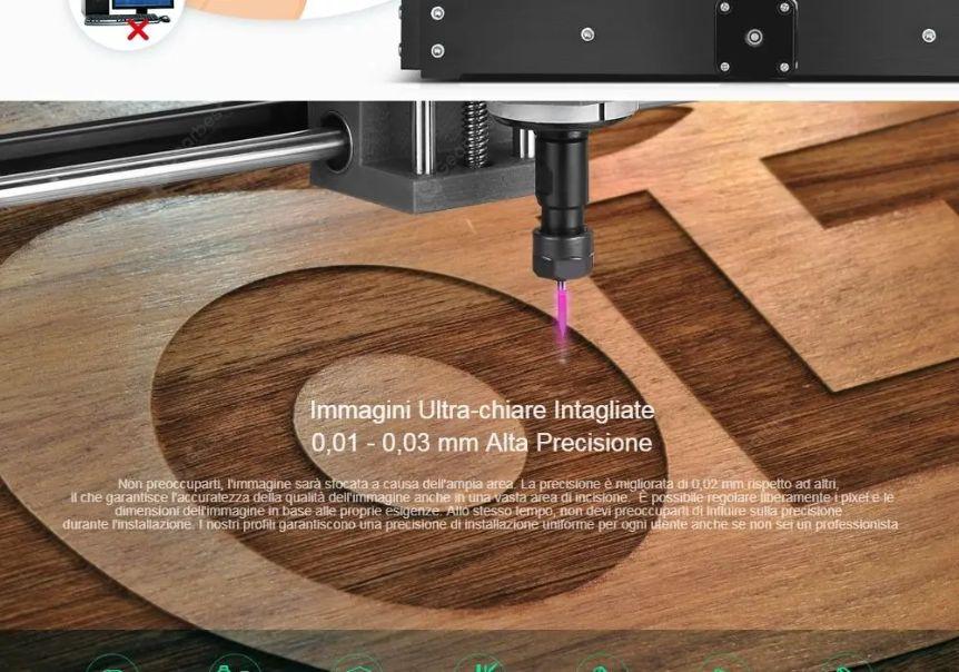 Offerta-Alfawise-C10-Pro-2 Offerta Alfawise C10 Pro a 200€, Incisore CNC laser Economico