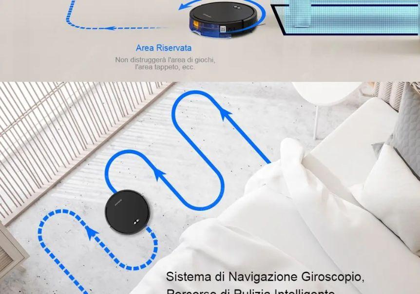 Offerta-Alfawise-V8S-Max-2 Offerta Alfawise V8S Max a 167€, il nuovo aspirapolvere robot 2020