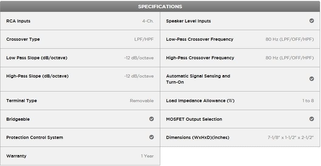 Offerta-Pioneer-GM-D1004-1 Offerta Pioneer GM-D1004 a 84€, Miglior Amplificatore per Auto 4 canali 400W