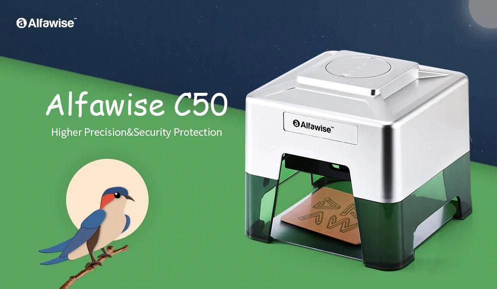 Incisore laser wireless Alfawise C50 Mini: ideale per il fai da te, Dettagli e Offerte