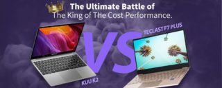 KUU-K2-VS-Teclast-F7-Plus-320x128 Recensione Alldocube i7Book, Ultrabook Cinese con Intel i7
