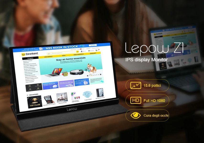 Monitor portatile USB-C da 15,6 pollici: Lepow Z1, Dettagli e Offerte