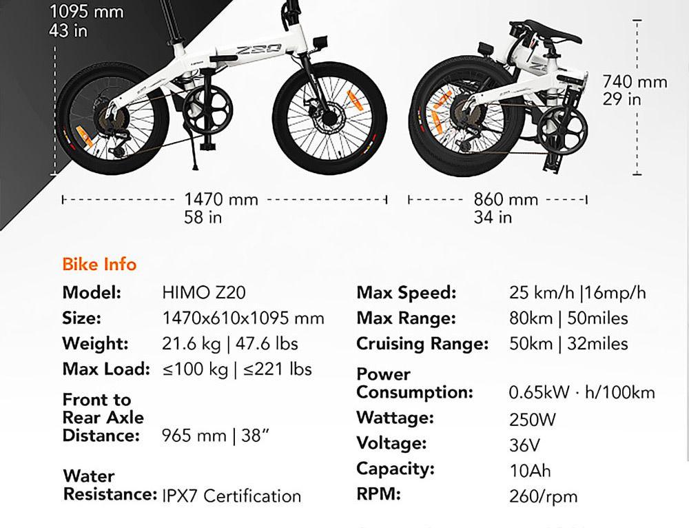 Offerta-Himo-Z20-19 Offerta Himo Z20 a 756€, Bici elettrica 2020 Autonomia 80km!