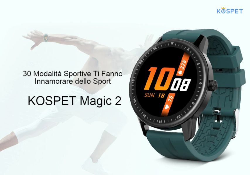Offerta Kospet MAGIC 2 a 22€,  SmartWatch economico per SPORT
