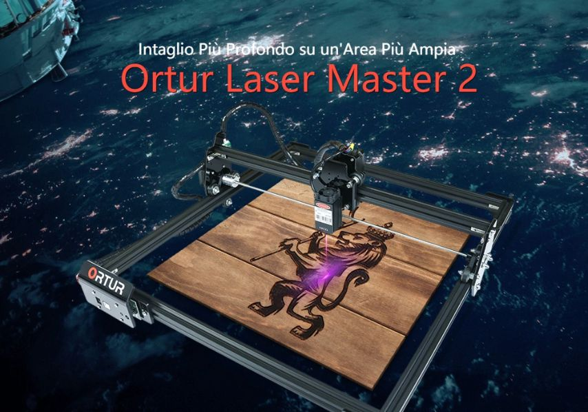 Offerta ORTUR Laser Master 2 da 154€, Miglior Incisore Laser 2020