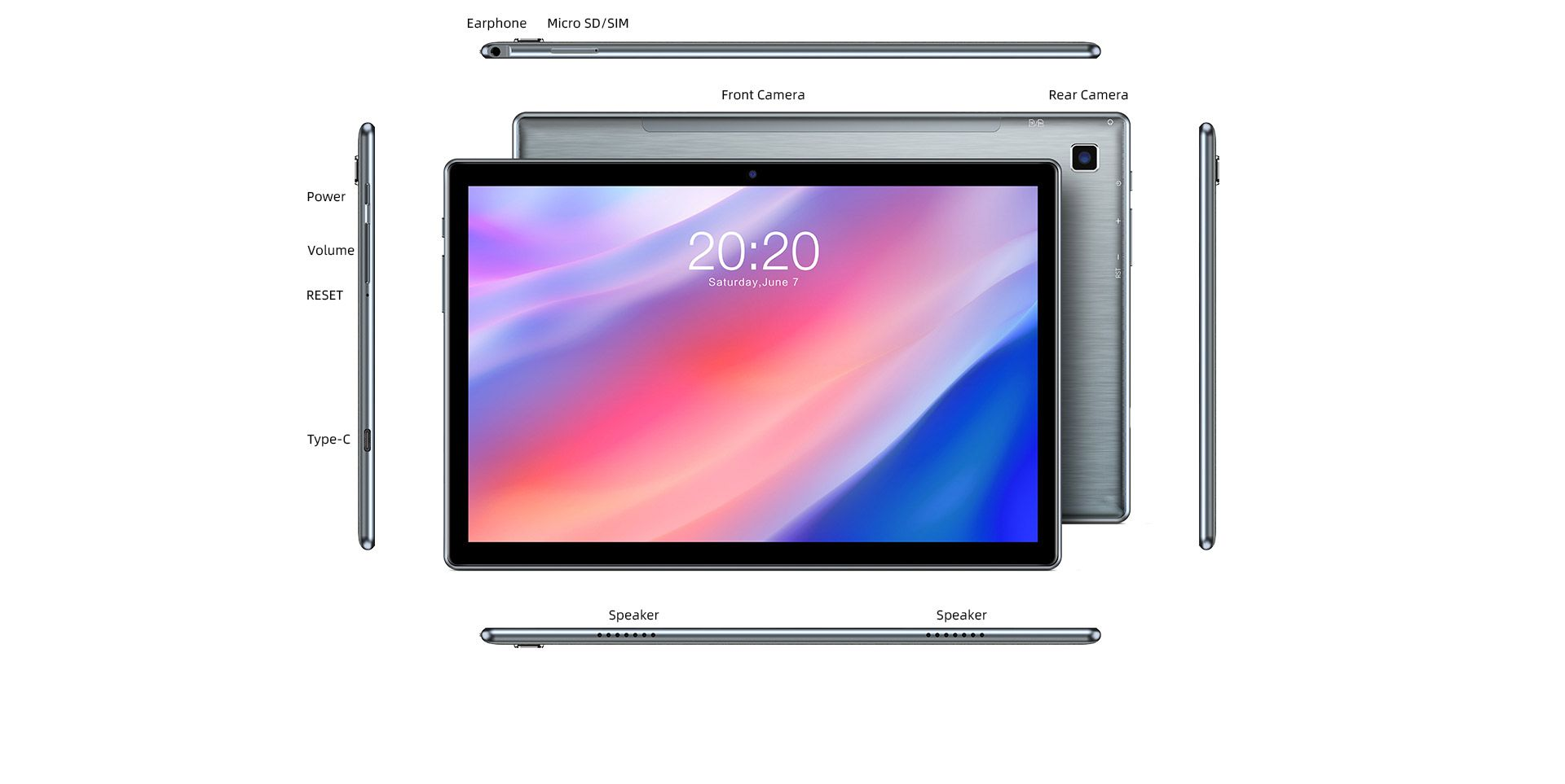 Offerta-TECLAST-P20HD-4 Offerta TECLAST P20HD a 117€, Tablet Cinese 2020 con Android 10