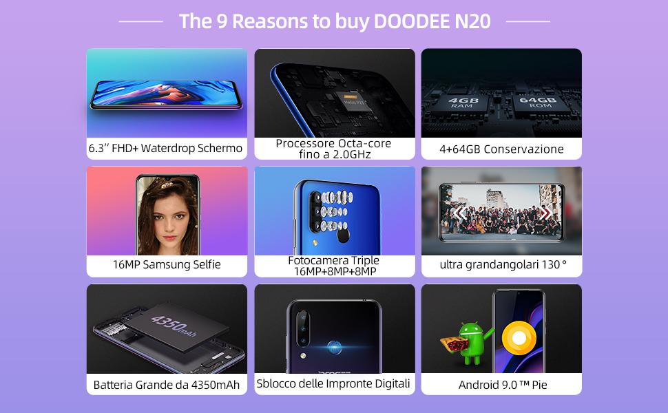 Offerta DOOGEE N20 a 116€, Smartphone Economico 2020
