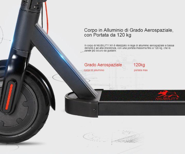 Offerta-NIUBILITY-N1-a-232E-2 Offerta NIUBILITY N1 a 232€, Il MIGLIOR monopattino elettrico 2020