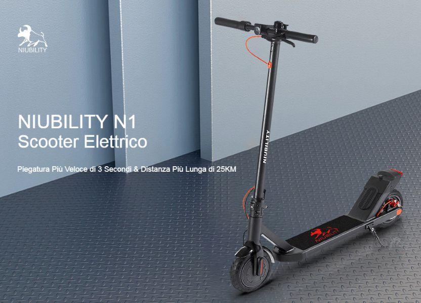 Offerta NIUBILITY N1 a 232€, Il MIGLIOR monopattino elettrico 2020
