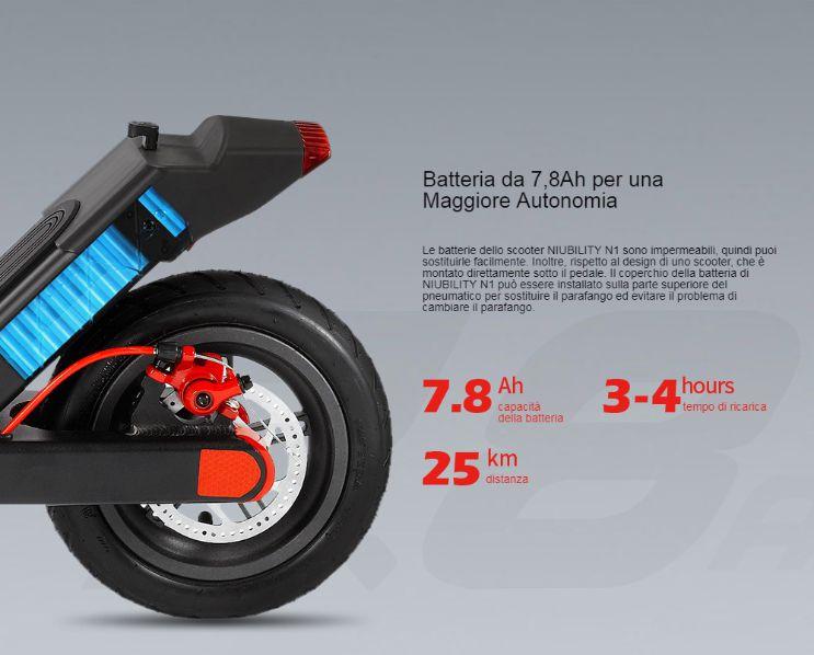 Offerta-NIUBILITY-N1-a-232E-5 Offerta NIUBILITY N1 a 232€, Il MIGLIOR monopattino elettrico 2020