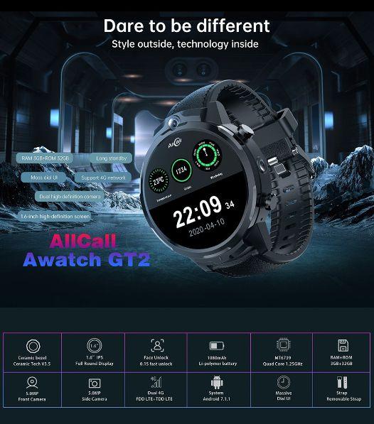 Offerta-ALLCALL-Awatch-GT2-3 Offerta ALLCALL Awatch GT2 a 107€, SmartWatch 4G per Telefonare!