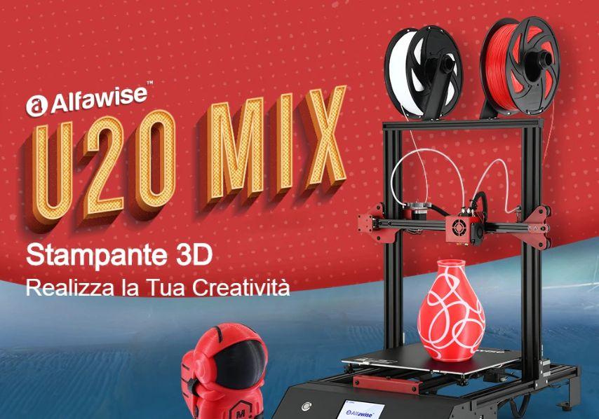 Offerta Alfawise U20 Mix a 385€, Nuova Stampante 3D 2020