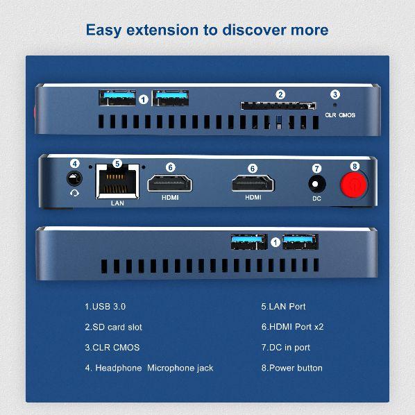 Offerta-Beelink-Gemini-M-1 Offerta Beelink Gemini-M a 144€, il Mini PC Veloce ed Economico