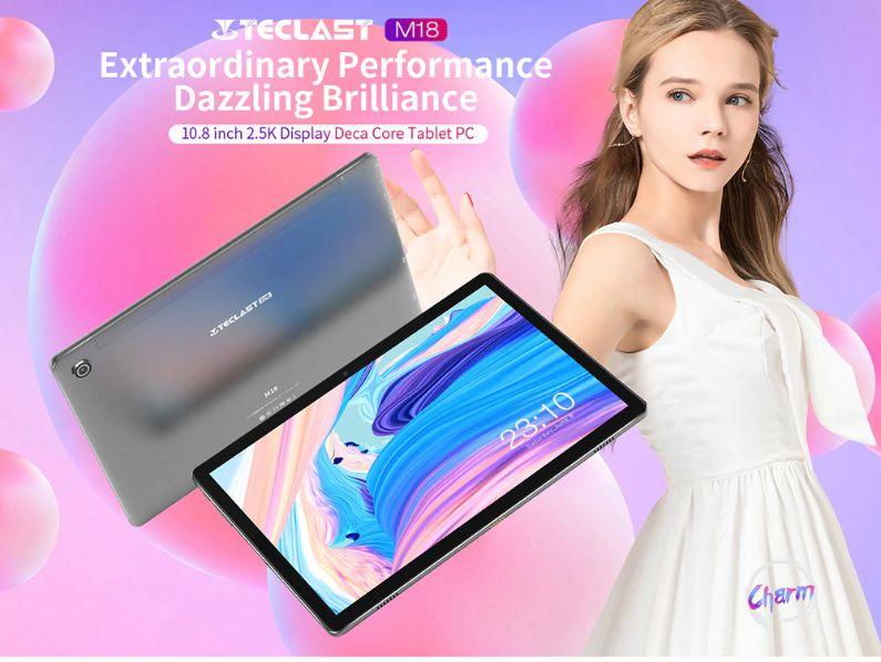 Offerta TECLAST M18 a 154€, Tablet Cinese 2K con Tastiera