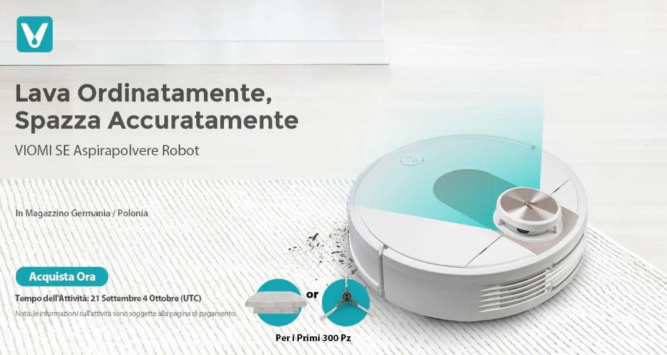 Offerta VIOMI SE a 258€, Lava e Aspira nuovo Robot 2020