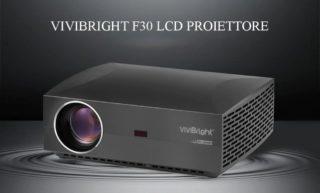 Offerta VIVIBRIGHT F30 a 142€, Proiettore 300 pollici Economico
