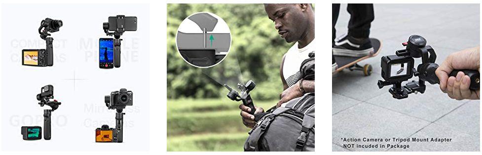 ZHIYUN-Crane-M2-1-1 Perchè ZHIYUN Crane-M2? Miglior Stabilizzatore Mirrorless e Smartphone
