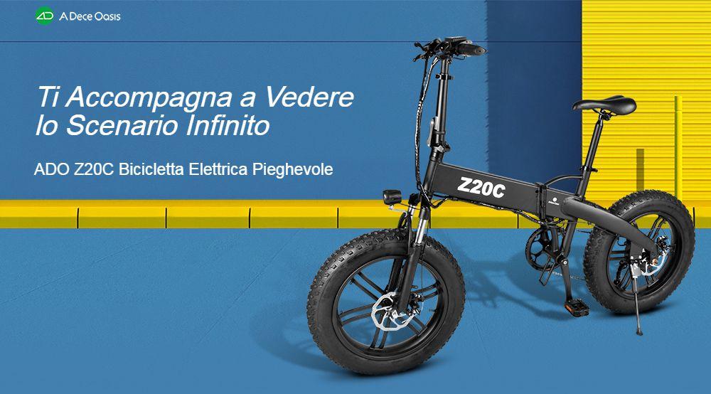 Offerta ADO Z20C a 860€, Fat Bike Elettrica Leggera e Pieghevole 2020