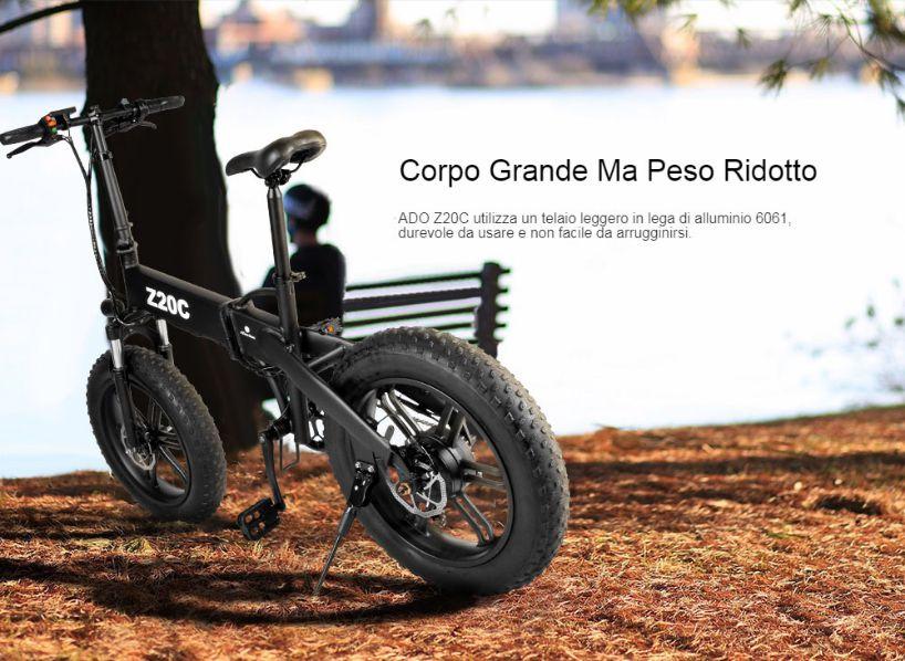 Offerta-ADO-Z20C-a-860E-Fat-Bike-Elettrica-5 Offerta ADO Z20C a 860€, Fat Bike Elettrica Leggera e Pieghevole 2020