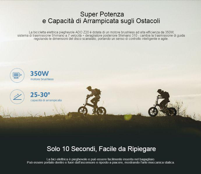 Offerta-ADO-Z20C-a-860E-Fat-Bike-Elettrica-6 Offerta ADO Z20C a 860€, Fat Bike Elettrica Leggera e Pieghevole 2020