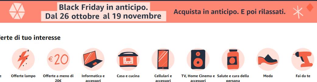 Screenshot_2020-10-26-Black-Friday-2020-Amazon-it Offerte Black Friday Amazon 2020: le migliori offerte Anticipate