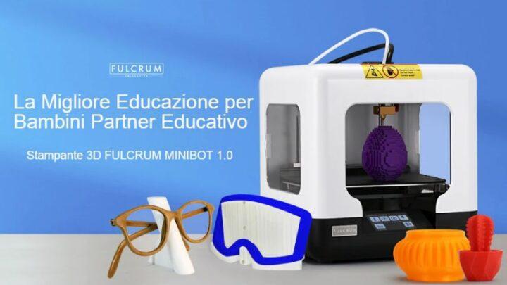 Codice Sconto FULCRUM MINIBOT 1.0 a 88€, Mini Stampante 3D