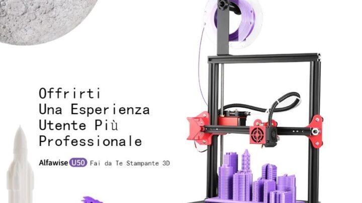 Offerta Alfawise U50 a 174€, Migliore Stampante 3D Fascia Media