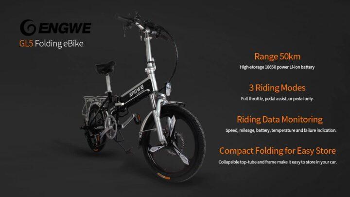 Offerta ENGWE GL5 a 671€, nuova Bici Elettrica 2020 ENGWE