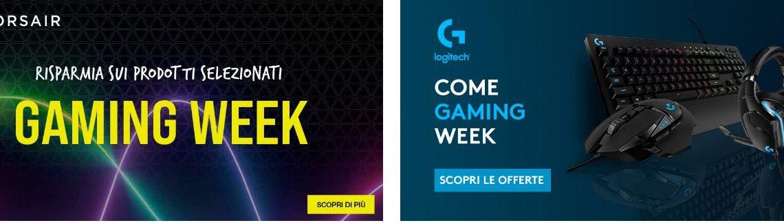 Gaming Week 2021: tutte Offerte Amazon Gaming Logitech, Corsair, AMD..