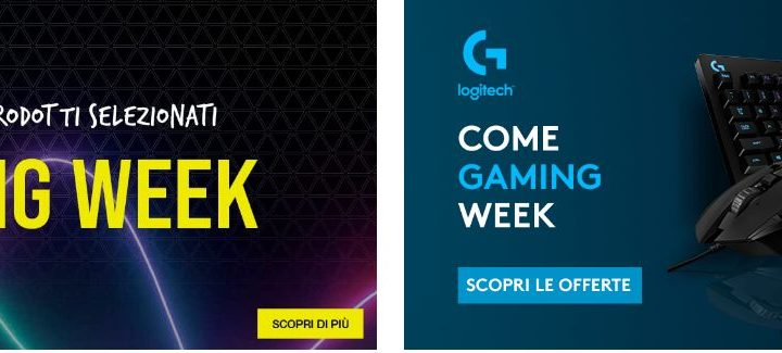 Gaming Week 2021: tutte Offerte Amazon Gaming Logitech, Corsair, AMD..