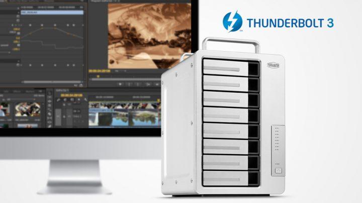 Nuovo NAS TerraMaster D8 Thunderbolt 3, perfetto per i video 4K