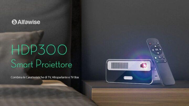Offerta Alfawise HDP300 a 159€, Miglior Mini Proiettore Full HD 2021