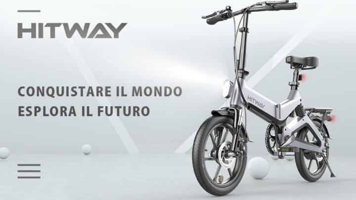 Offerta Bici Elettrica HITWAY 479€: Bici elettrica Leggera da 250 W