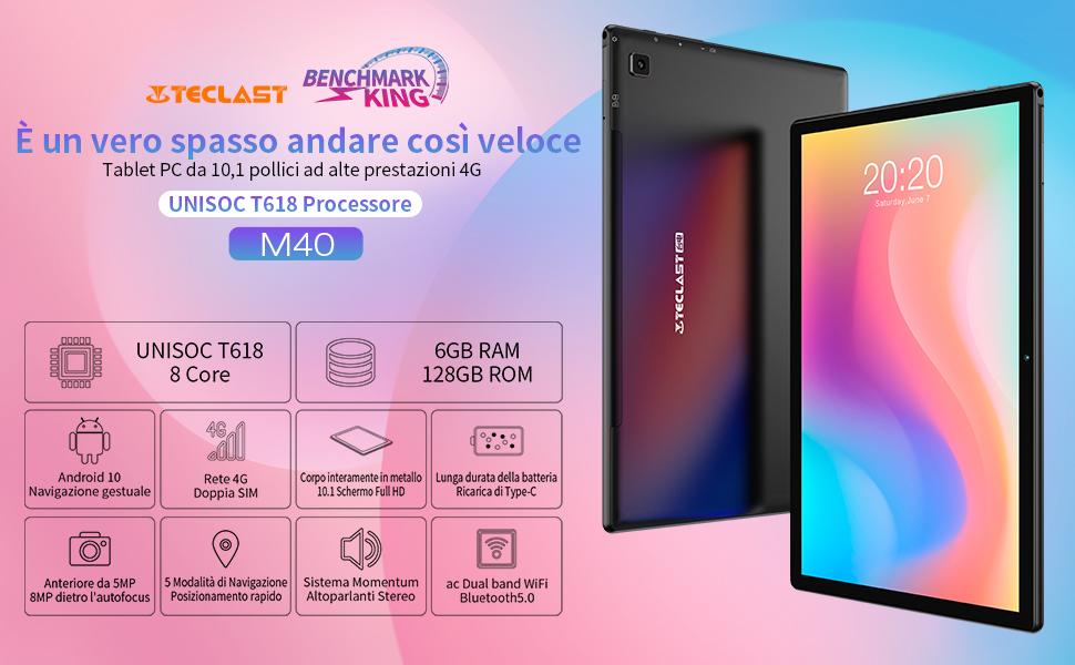 Offerta Teclast M40 a 160€, Miglior Tablet 2021 Economico