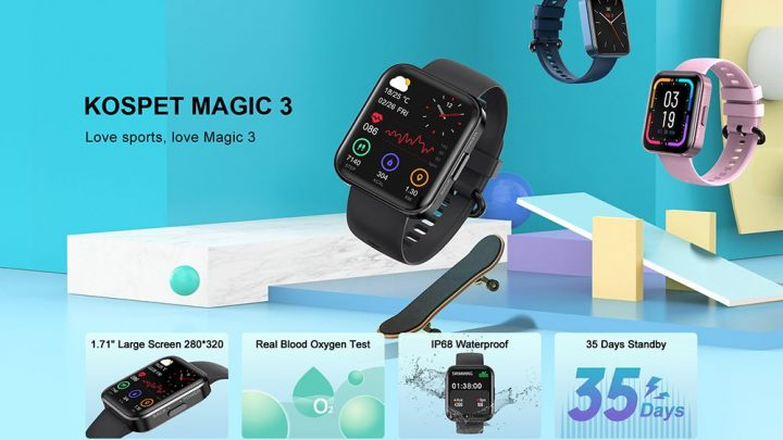 Offerta KOSPET MAGIC 3 a 30€, SmartWatch Sportivo Economico 2021