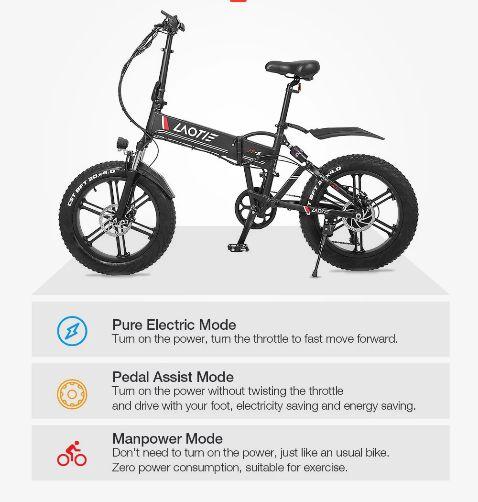 Offerta-LAOTIE-FT5-a-810E-2 Offerta LAOTIE FT5 a 810€, la prima Fat Bike Elettrica Ammoritizzata