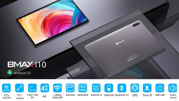 Offerta Bmax MaxPad i10 a 127€: Tablet Economico 2021 per Video e Social