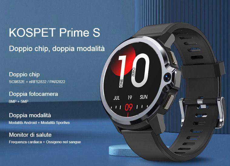 Offerta-KOSPET-Prime-S-4 KOSPET PRIME: il primo Smartwatch con Face ID e 2 Fotocamere, Dettagli e Offerte