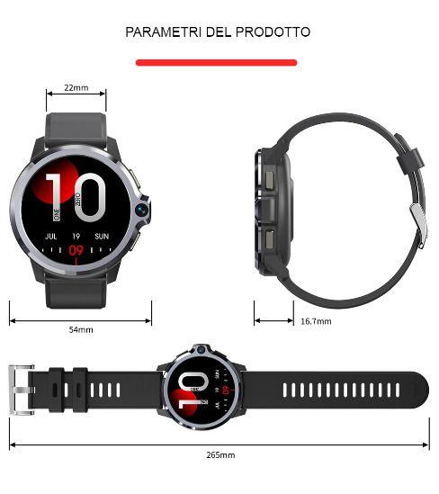 Offerta-KOSPET-Prime-S-6 Offerta KOSPET Prime S a 85€: Smartwatch 4G con Fotocamera e 2 CPU!