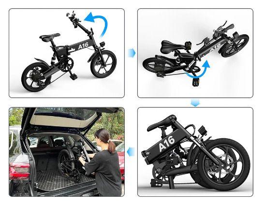 Offerta-ADO-A16-a-554-1 Offerta ADO A16 a 554€: Mini Bici Elettrica da 16 pollici