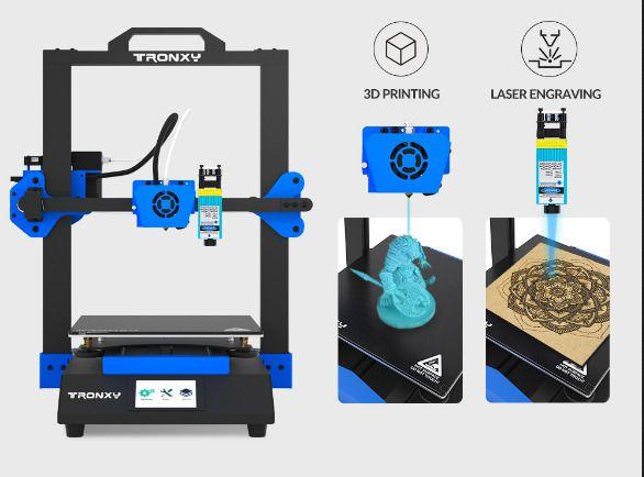 Offerta-Tronxy-XY-3-SE-a-316-7 Offerta Tronxy XY-3 SE a 316€:  stampante 3D + incisore! Novità 2021