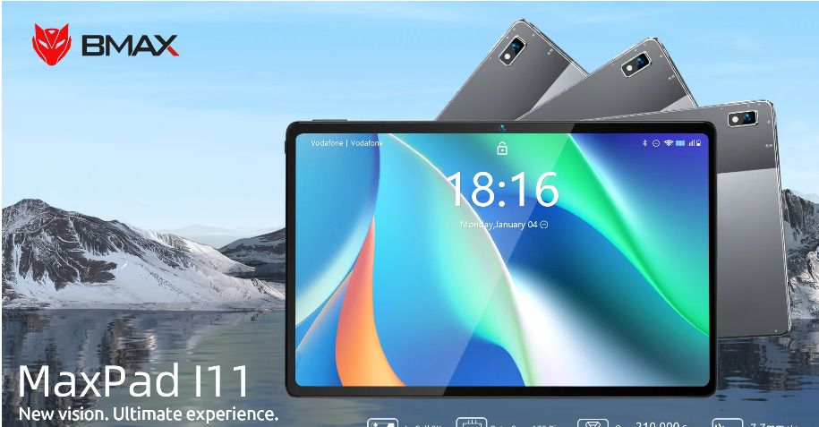 Offerta BMAX MaxPad i11 a 151€, Tablet Cinese 2021 Octa Core 8GB RAM
