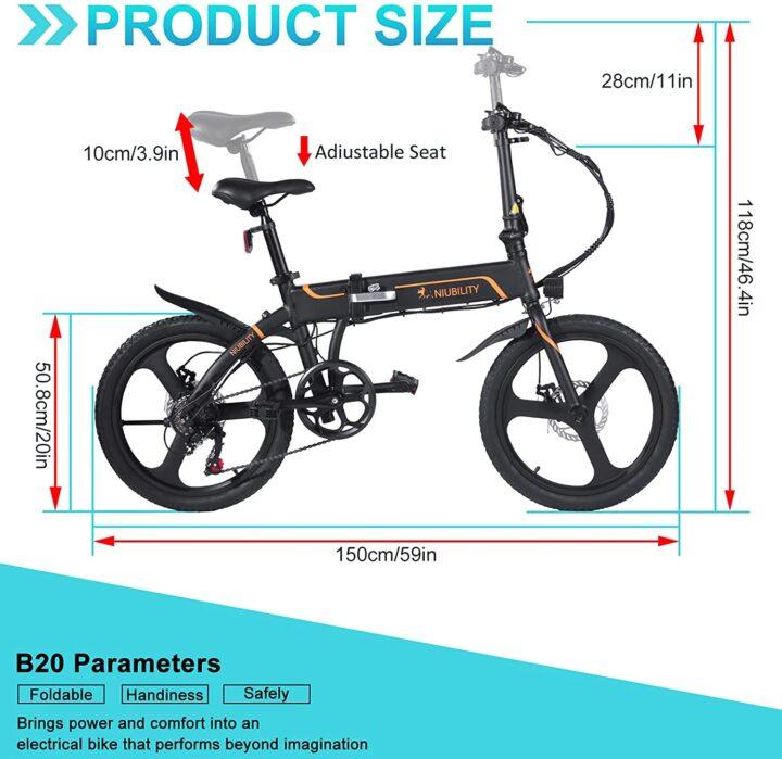 Offerta-Niubility-B20-3-720x699 Offerta Niubility B20 a 634€, E-Bike Pieghevole 2021 da 42V